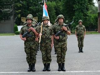 Гаку плакета за сарадњу са јединицом ВОЈИН Војске Србије