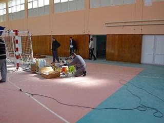 Реновирање школске сале у Крчедину