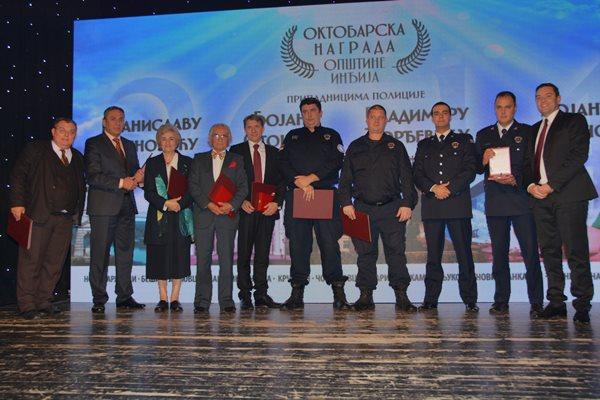 """Uručene """"Oktobarske nagrade"""" za 2014. godinu Dan Opstine Indjija 2014 Oktobarske nagrade"""