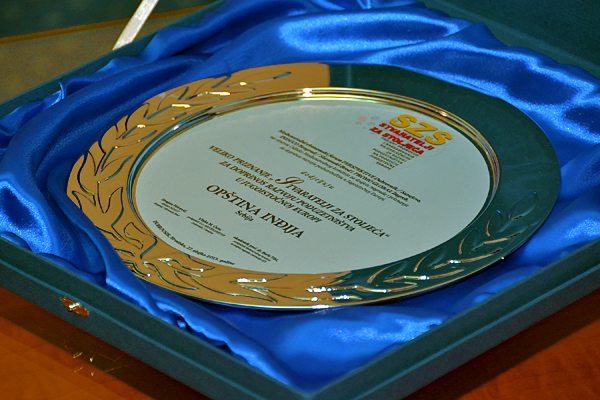 "Indjija recognition ""creators for centuries"" for the development of entrepreneurship in South East Europe"
