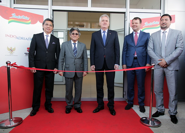 "Ceremonial opening of the Indonesian food factory ""Indofood"" in Indjija"