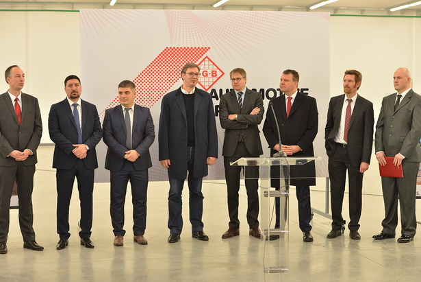 The Serbian Prime Minister Aleksandar Vučić has opened a New Production Plant of IGB Automotive Comp